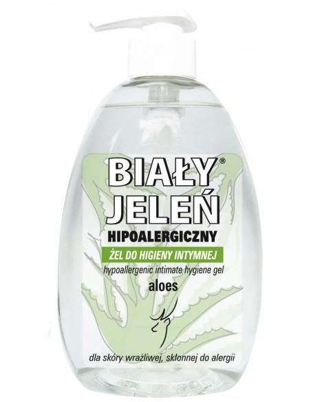 BIAŁY JELEŃ Hipoalergiczny żel do higieny intymnej z aloesem, 265ml