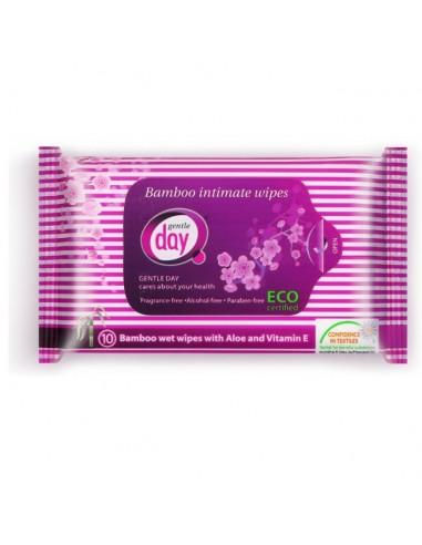 GENTLE DAY Ekologiczne chusteczki do higieny intymnej, 10 szt